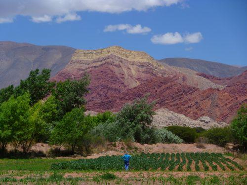 Juste a cotè des montagne aux 7 couleurs