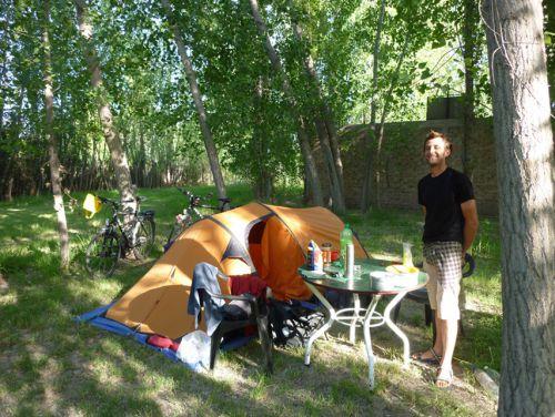 Glandage au camping pour les premiers jours