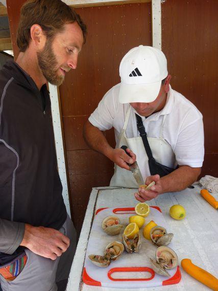 Degustation de mariscos offerte par Josè