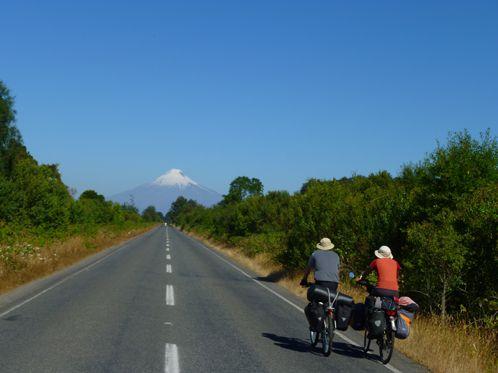 Les 2 commères en direction du volcan Osorno