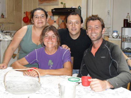 Les proprios Jasia et Claudio, encore 2 belles rencontres
