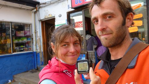 Les 9000 km a Coyhaique, on etait trop fatiguès pour aller au resto