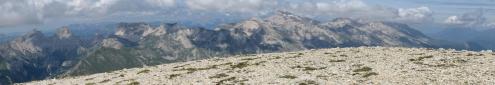 Panoramique vers le nord-nord-ouest depuis le Plateau de Bure - 22.06.2015.jpg