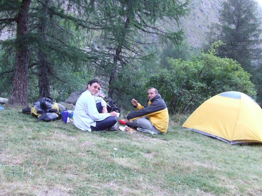 Au campement du premier soir - Vallon de Navette -  Haute route du Vieux Chaillol - 25.07.07 - 1.JPG