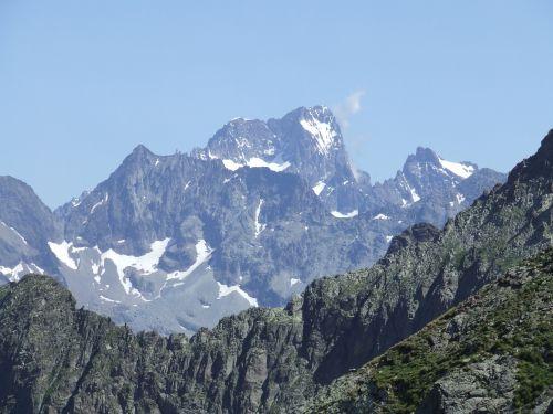 La Barre des Ecrins depuis le Col de Val Estrèche - Haute Route du Vieux Chaillol