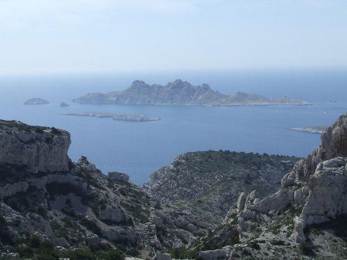 Riou et l'Ile Plane depuis le Sommet de Marseilleveyre - Calanques