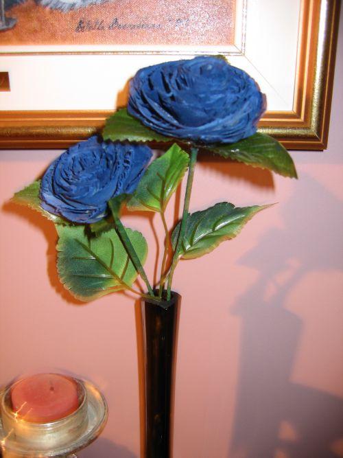 Décoration de table - fleurs de copeaux