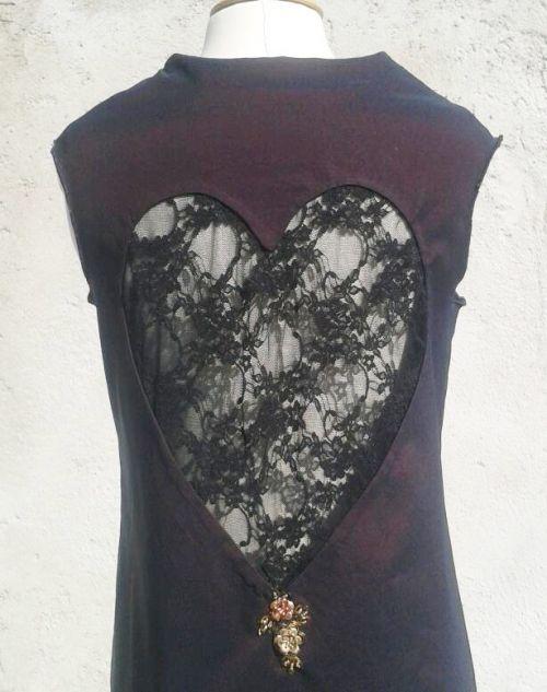 robe dos coeur dentelle