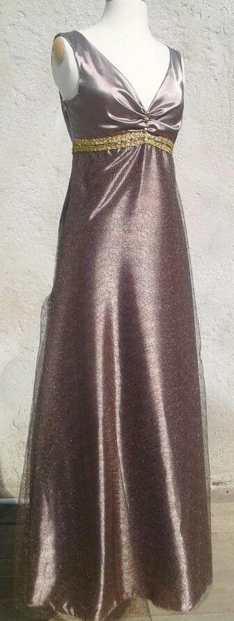 robe lurex chocolat