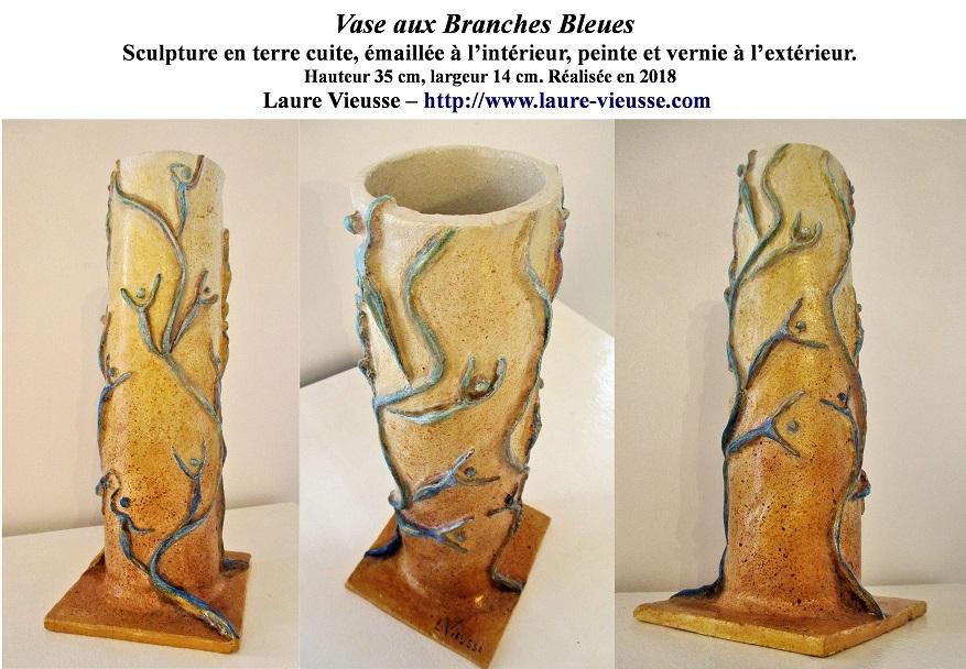 Vase aux Branches bleues