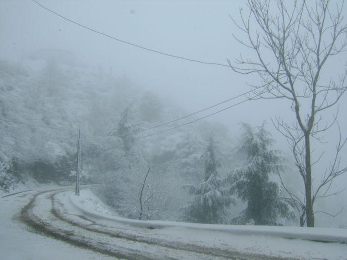 Ain El Hammam (Djurdjura) sous la neige