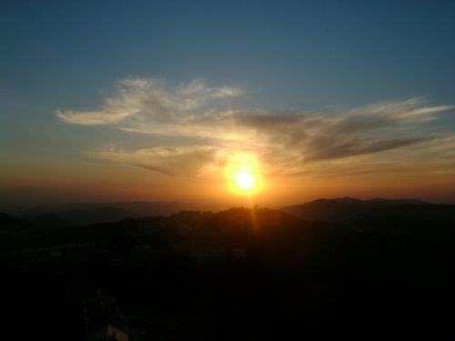Djurdjura, coucher du soleil