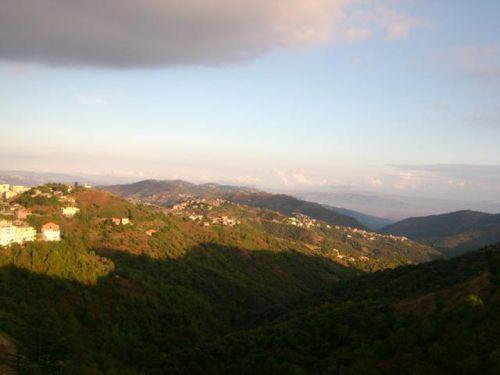Panorama de notre balcon