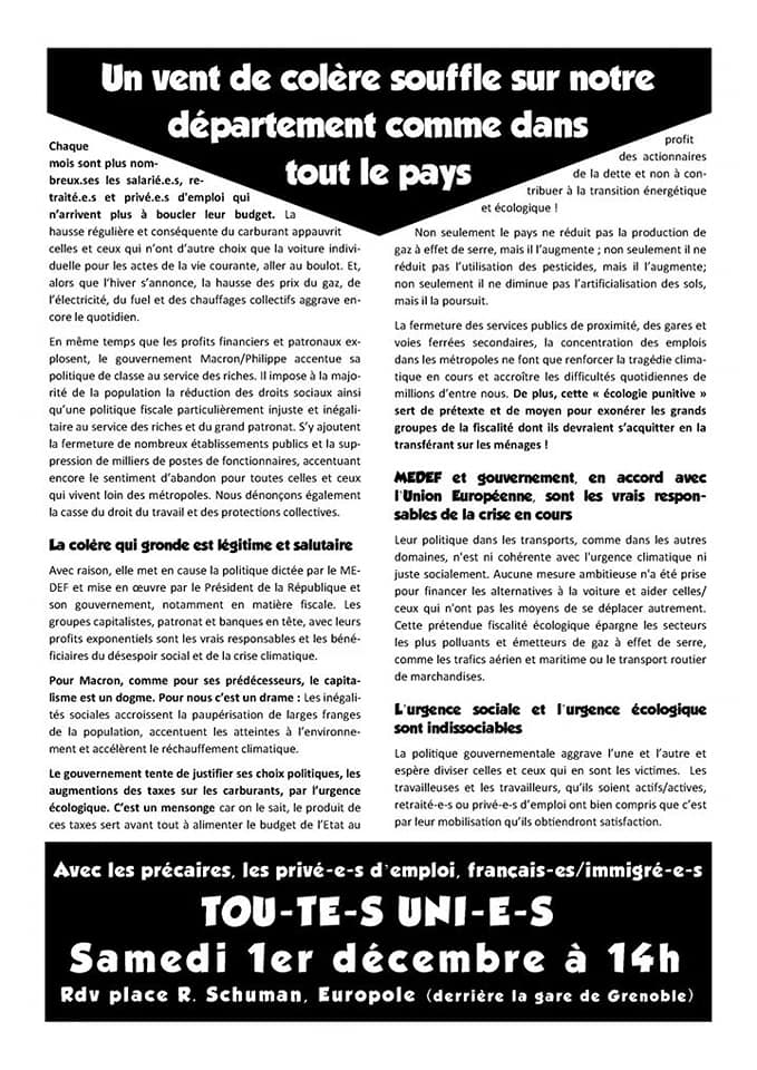 syndicats isere 1 decembre 2018 Recto.png