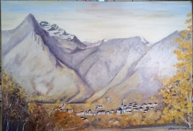 Village au pied de la montagne