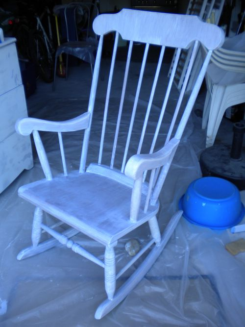 rocking chair en préparation