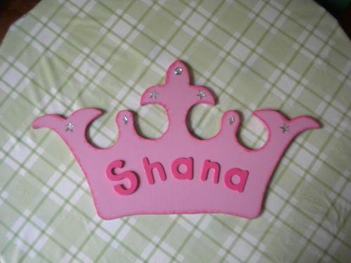couronne de princesse pour ma petite fille Shana fait en chantournage