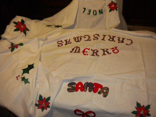 Nappe fait pour mon marché de Noel