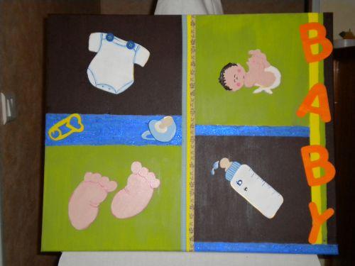 bébé et ses accessoires en chantournage
