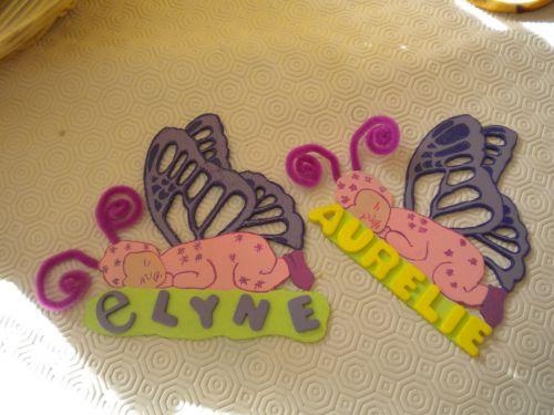 bébé-papillon ( plaque de porte )
