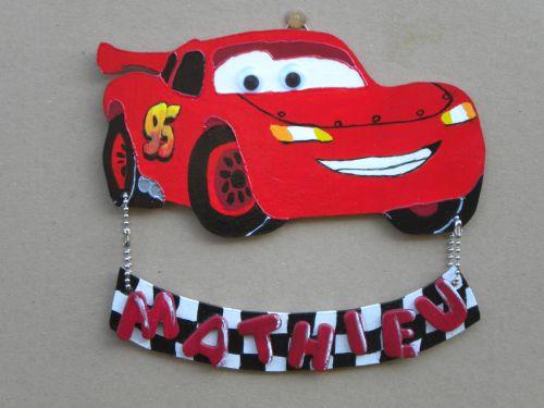 Cars ( plaque de porte )