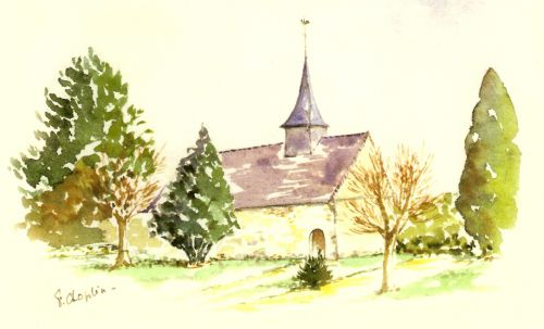 Aquarelle église