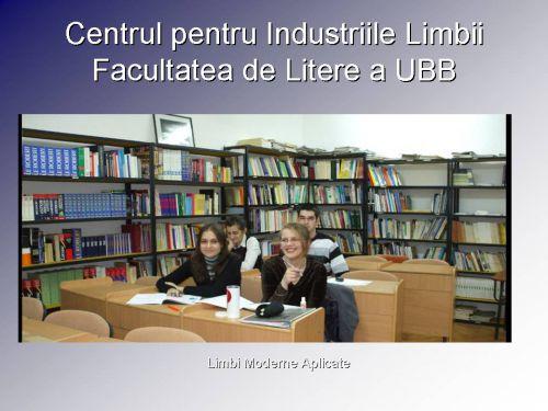 Biblioteca CIL - LMA (licenţă, masterat)