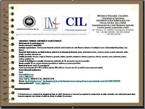 Promovare cursuri de Practica Intensivă a Limbii (PIL)