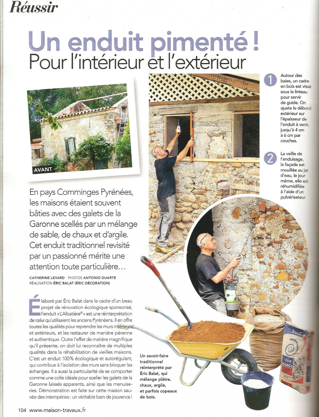 la fermette sponsoris e de cuguron sur le magazine maison travaux n 262 janvier 2015 co. Black Bedroom Furniture Sets. Home Design Ideas