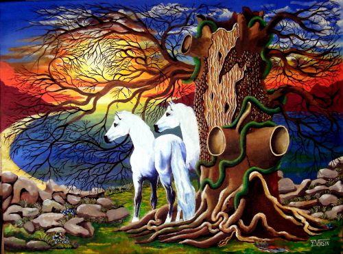 les chevaux blancs