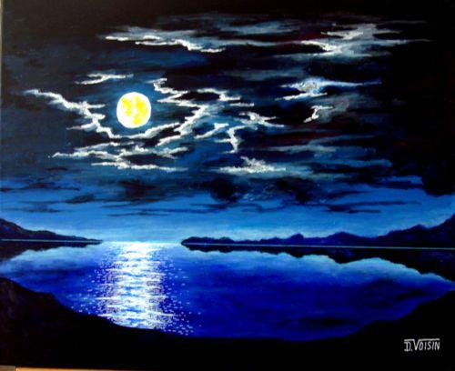 Clair de lune bleu ( vendu )