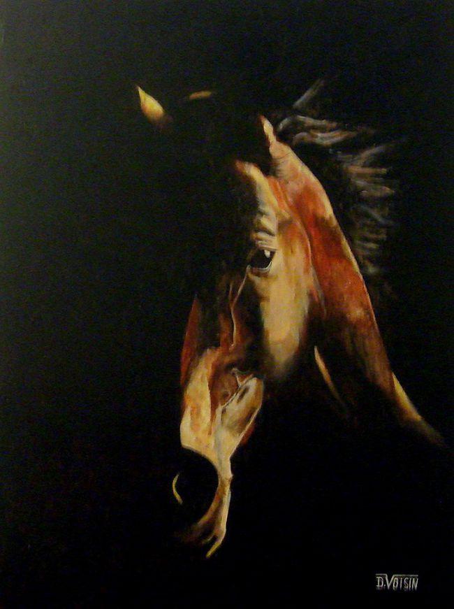 Portrait cheval tranquille ( vendu )