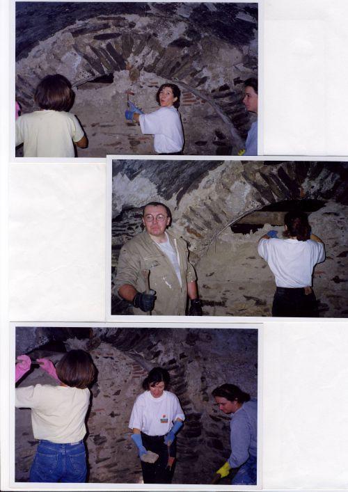 travaux intérieurs de l'abside 1997