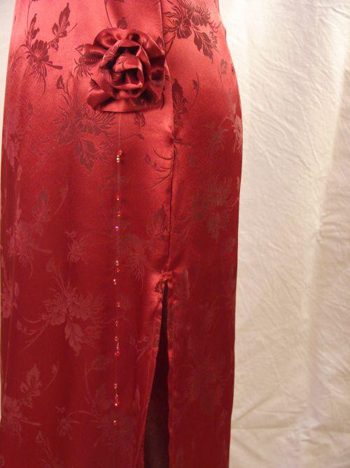 Robe de soirée (détail)