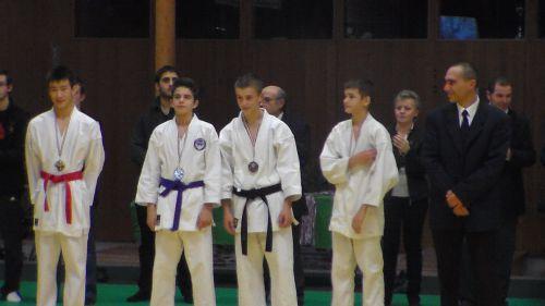 Yannick, médaille d'or en kata et combat