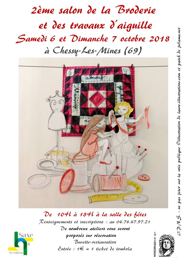2ème salon de la broderie et des travaux d'aiguille à Chessy-Les-Mines (69)