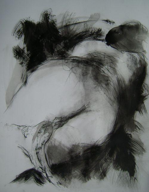70 / Encre fusain pierre noire 65X50