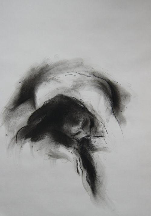 127 / Pierre noire fusain
