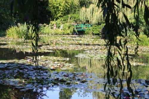 Le jardin des Nymphéas de lamaison de Claude Monet