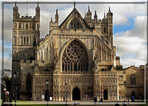 Cathedrale d'Exeter l, Angleterre