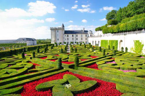 Dans les jardins du château de Villandry