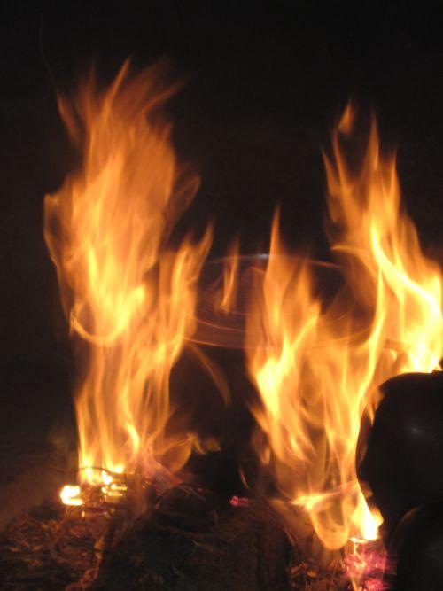 Cuire au feu de bois