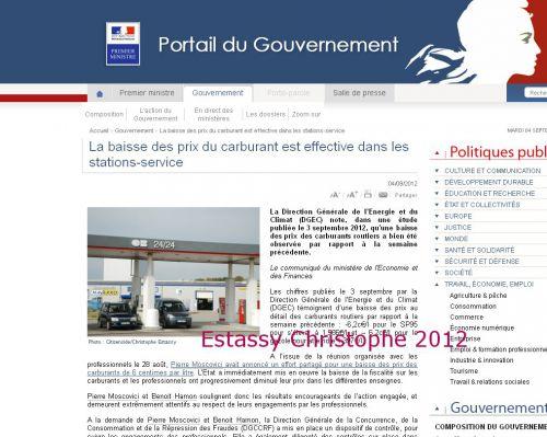 Publication sur le site du Gouvernement