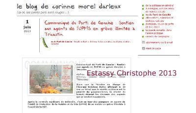 Publication sur un blog de Corinne Darleux