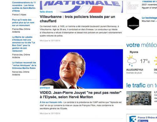 publication sur France 3 Rhône-Alpes région France Tv info