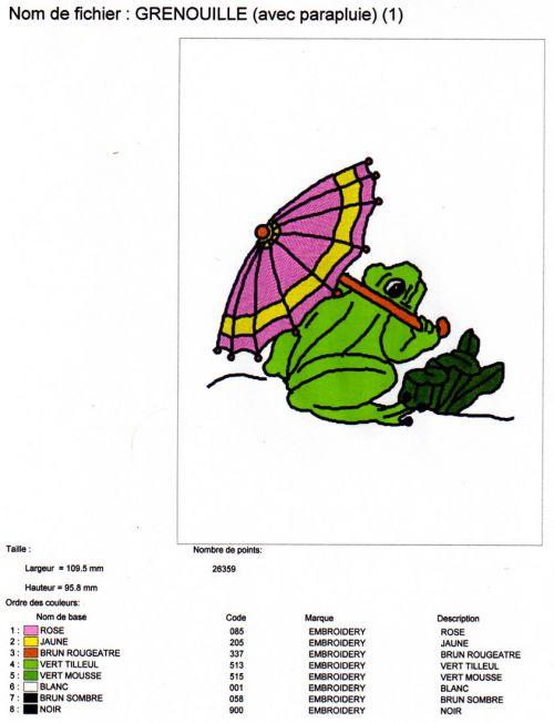 GRENOUILLE (avec parapluie)
