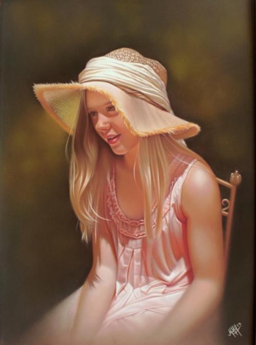 Jeune fille en fleur pastel .jpg