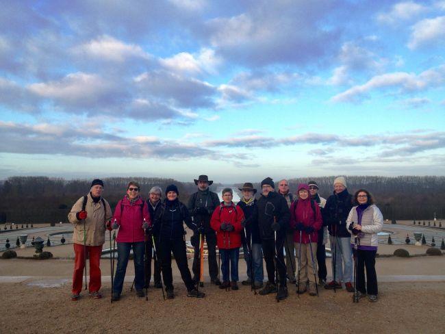 Marche nordique Janv. 2017 : Parc de Versailles gelé