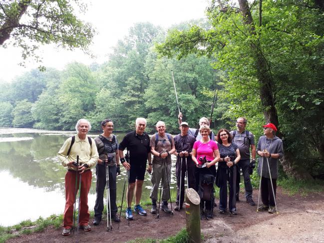 Marche nordique mai 2018 - Etang de Saint-Cucufa