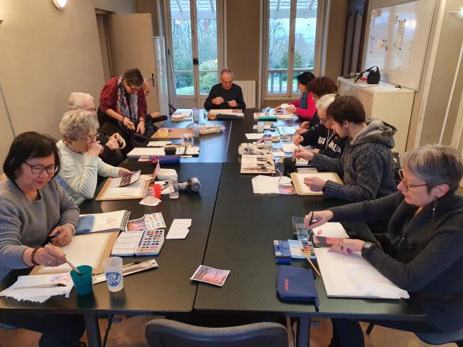 Dessin-Peinture Janvier 2020